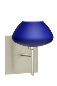 Besa Lighting 1SW-541087-CR 1X40W G9 Peri Wall Sconce with Blue Matte Glass, Chrome - Glass Blue Peri Decorative