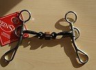 Reinsman Argentine 3/8 Smooth Dogbone Snaffle With Roller Horse Bit (Horse Snaffle Smooth Bit)