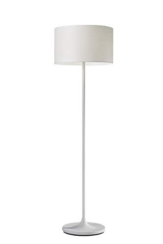 Adesso 6237-02 Oslo Floor Lamp - Corrosion Resistant, Scratch Proof, White Matte Finish Lighting Equipment with Metal Body. Tools & Home ()