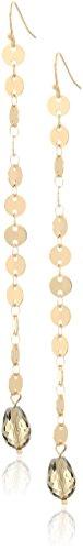 panacea gold linear drop earrings