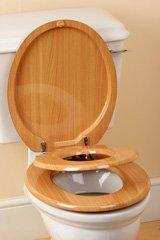 family toilet seat wood. The Family Toilet Seat  MDF Beech Amazon co uk Kitchen Home