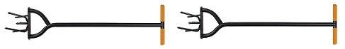 Fiskars 79906935J, 40 Inch Long Handle Steel Tiller (2-(Pack))