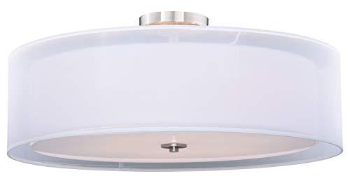 Nuage 30In. Semi-Flush Ceiling Satin Nickel ()