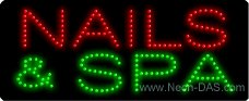 Nails Spa Outdoor LED Sign 13 x 32