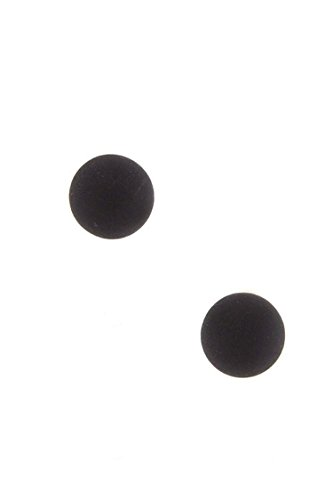 DIVA & DUCHESS MATTED FINISH COLOR BALL EARRINGS (Black) (Disco Ball Diva Costume)