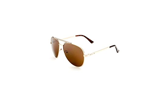 FASHION AVIATIOR SUNGLASSES STUDS GOLD TONE (Frontier Sunglasses)