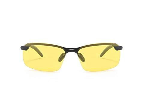 de de sol protectoras Guay Huyizhi Gafas viajar para de Hombres deporte Moda polarizadas Gafas marco medio visión Mujeres UV400 gafas sol Yellow para al aire nocturna conducir libre qTXXwUa