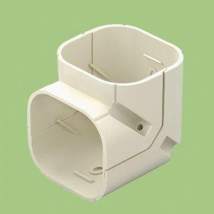 10個セット 配管化粧カバー ミニコーナー(立上用) 77タイプ ホワイト SKC-75T-W_set