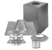 [Dura-Vent 4PVP-KVB PelletVent Pro Vertical Cathedral Ceiling Venting Kit] (Vertical Rain Cap)