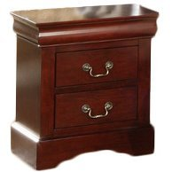 - Hopkinsville 2 Drawer Nightstand Made w/ Wood in Cherry Finish 24'' H x 21.5'' W x 15.5'' D in.