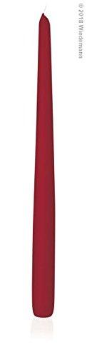 6 Candele conica 400/25 mm (Rosso) Wiedemann