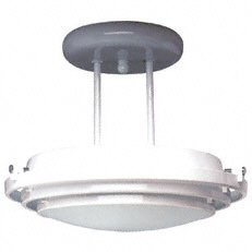 PLC Lighting 1618 BK Cascade Collection 1 Light Semi Flush Mount, Black