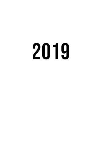 2019: ENE - DIC Agenda Semanal | 152 x 229 mm | 1 Semana en 2 Páginas | 52 Semanas Planificador y Calendario | Blanco (Spanish Edition)