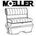 Moeller Deluxe Permanent Mount Swing Back Cooler or Livewell Boat Seat (50-Quart, 30