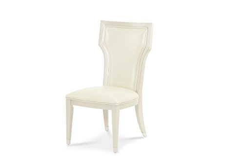 Michael Amini 06003A-08 Beverly Boulevard Side Chair, Pearl For Sale