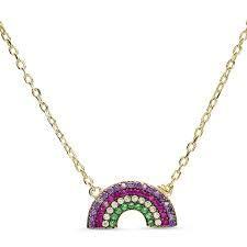 LUXENTER Colgante Arco Iris Color Oro NH094Y2000