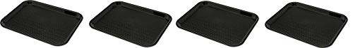 Carlisle CT1014-8103 Café Standard Cafeteria/Fast Food Tray, 10'' x 14'', Black (Pack of 6) (4-(Pack))