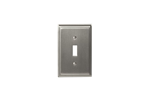 Amerock BP36514G10 Mulholland 1 Toggle Wall Plate - Satin Nickel