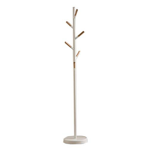 Cherry Hall Pendant - YJA Coat Rack Free Standing Multi-Purpose Coat Clothes Hat with Solid Base for Office Corridor Hall Tree (Color : White)