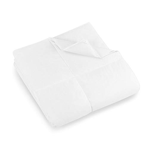 Eddie Bauer 550 Fill Power Lightweight White Down Comforter - Perfect for Summer (Oversized Queen)