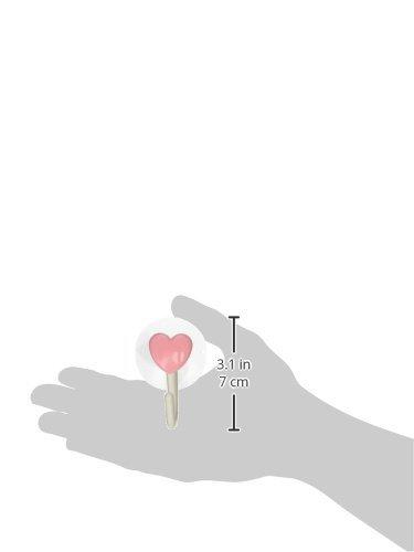eDealMax corazón Toalla en forma de ventosa gancho de la suspensión, Rosa Blanco, 2 piezas - - Amazon.com