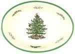 Spode Christmas Tree Oval Rim Dish (Spode Christmas Tree 12 Piece Dinner Set)