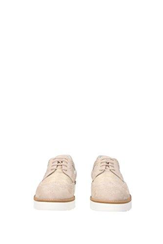 mujer para Zapatos Beige ante de de cordones Hogan wYdgXqX