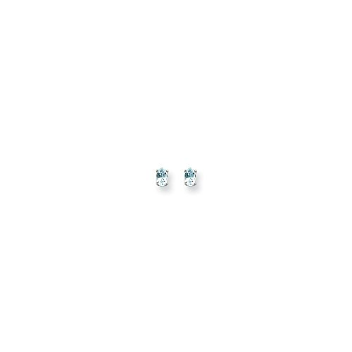 (14k White Gold 5x3 Oval Earring Mountings Length 6 Width 3)