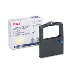 ((6 Pack Value Bundle) OKI52102001 52102001 Ribbon, Black )