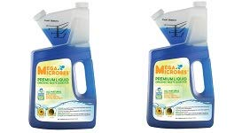 MegaMicrobes MML-5GL MML-64FL No-Mixing Liquid Drain, Septic, Trap and Pump Treatment, 64-Ounce Bottle (2-(Pack))