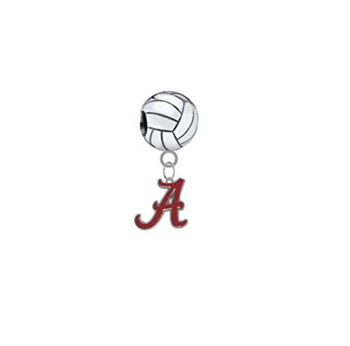 Alabama Crimson Tide Volleyball 3D Universal European Bracelet Charm