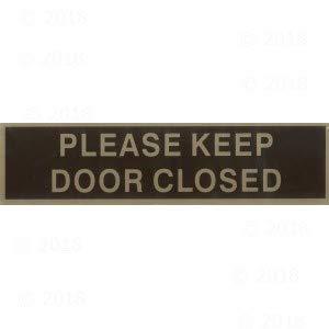 2 x 8 Please Keep Door Closed Peel & Stick Sign (12 ()