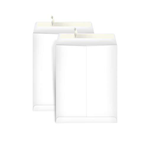 AmazonBasics Catalog Mailing Envelopes, Peel & Seal, 9x12 Inch, White, 100-Pack - AMZP15 (Legal Size White Envelopes)