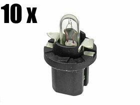 Mercedes Bulb 1.2w w/ Black Socket for Dash Instruments (x10)
