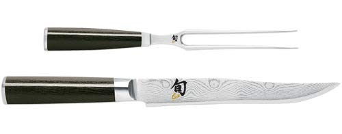 Shun Classic 2-Piece Carving Set with 8-Inch Carving Knife and 6-Inch Fork