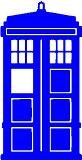 "Doctor Who Tardis 4 "" Light Blue Vinyl Sticker Wall Car Lapt"