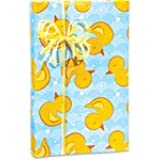 Amazon Com Rubber Ducky Gift Wrap Flat Sheet 24 Quot X 6
