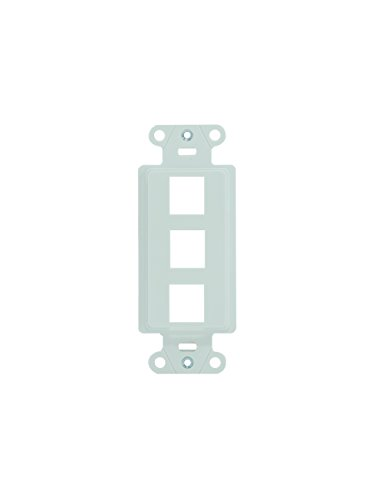 Legrand - On-Q WP3413WH 3-Port Keystone Decorator Strap, White, 10 Pack ()