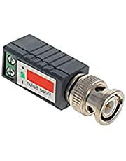 Heyiarbeit CCTV BNC Video Transceiver TV Camera Power Passive Video BNC Coaxial Cable Adapter Metal for Protect Important Electronic Equipment 2Pcs