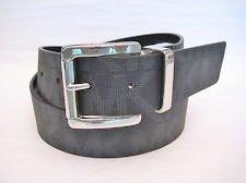Michael Kors Mk Signature Monogram Logo Black Belt Silver Buckle Size Large (Michael Kors Mens Belt)