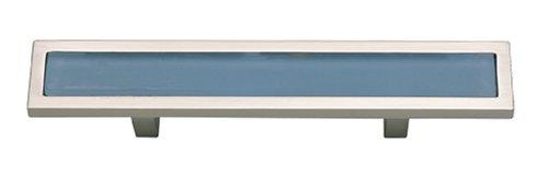 (Atlas Homewares 231-BLU-BRN Spa Blue, 3 inch (76mm) Pull, Brushed)
