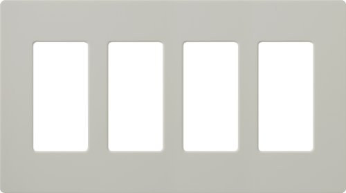 Lutron SC-4-PD Satin Colors 4-Gang Wallplate, Palladium (Satin Palladium)