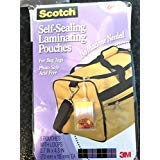 Scotch Self-Sealing Laminating Pouches, 12.5 mil, 2 13/16 x 4 9/16, Luggage Tag, 5/Pack