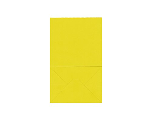 40CT Biodegradable, Food Safe Ink & Paper, Premium Quality Paper (Thicker), Paper Bag, Kraft Paper Sack (Small, Yellow)