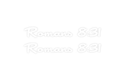 Xpin Graphics Romans 8:31 If God is for Us, Who Can Be Against Us? 2X Decal Sticker Stickers]()