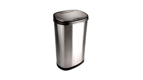 Nine Stars 13.2-Gallon Stainless Steel Oval Sensored Trash C