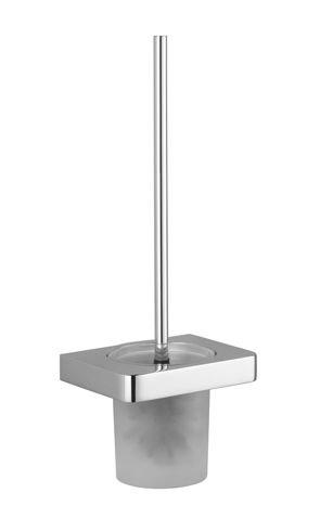 Dornbracht 83900710-06 Lulu Toilet Brush Set Wall Model Platinum Matte