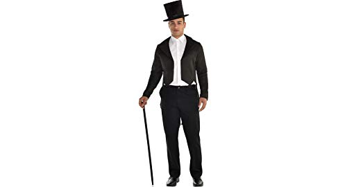 Black Tailcoat Halloween Costume Accessory for Men, Standard,