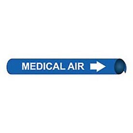 Precoiled and Strap-on Pipe Marker - Medical Air, Pack of 10 ()