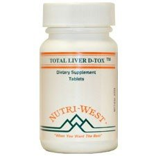 Total Liver D-Tox - 180 Tablets by Nutri West by Nutri-West